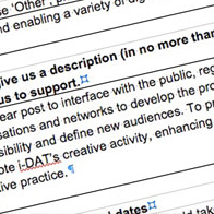 OUTREACH CURATOR FOR i-DAT.