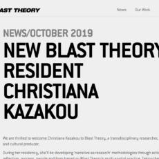 BLAST THEORY RESIDENT
